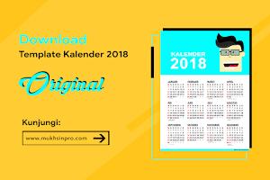 Template Desain Kalender 2018 (PSD)