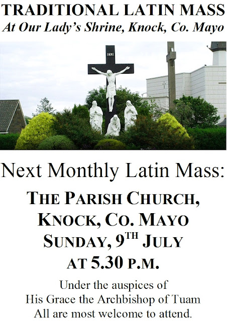 July 2017 Monthly Latin Mass in Knock