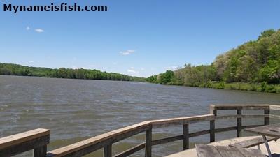 Lake Logan, Ohio. Bass fishing in Lake Logan