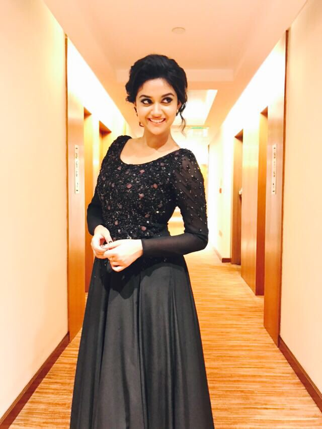 keerthy suresh stills at Remo Thanksgiving meet