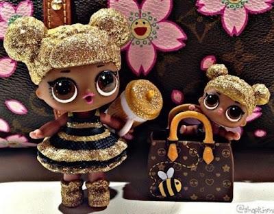 Старшая и младшая сестра LOL Surprise Glitter Queen Bee