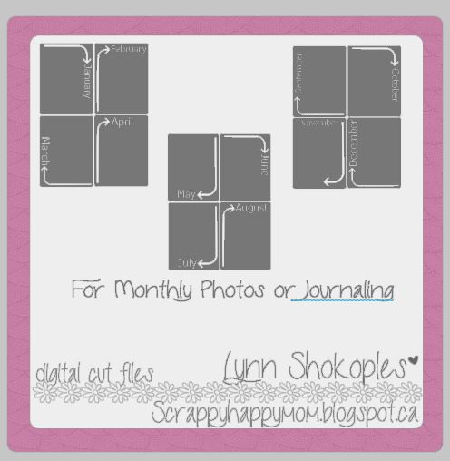 Monthly Photo Cards by Lynn Shokoples