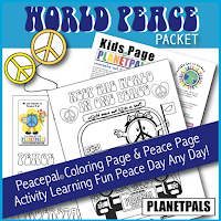 Peace Activities for Peace Day and Peace Lessons for the Classroom and homeschool