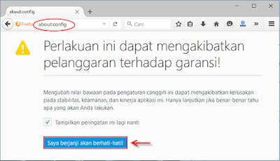 Cara menonaktifkan atau disable/enable javascript di browser mozila