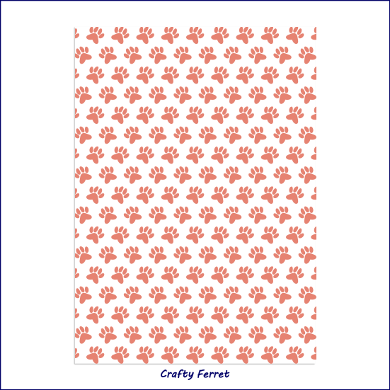 A4 printable paw print craft backing paper.