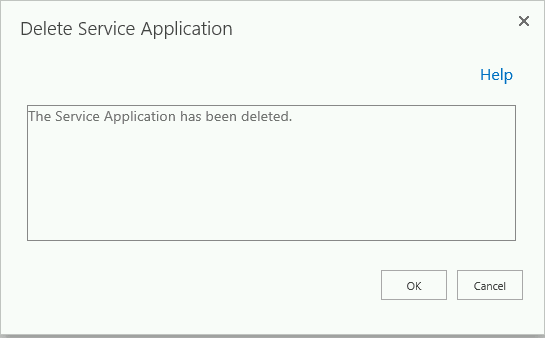 sharepoint 2010 delete service application powershell force