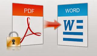 صورة لتحويل ملف pdf الى word
