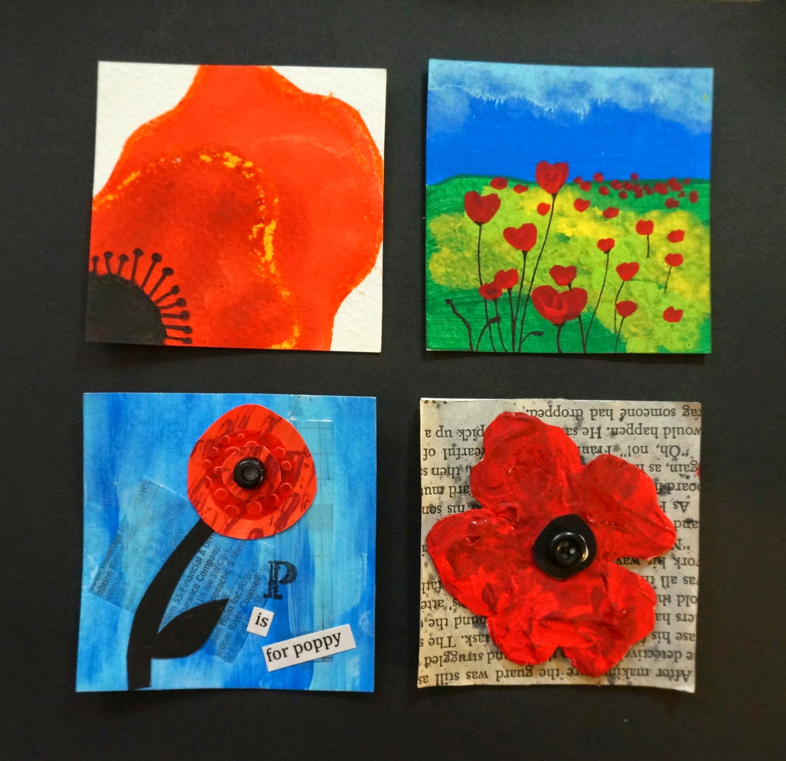 That artist woman poppy inchies - Remembrance day craft ideas ...