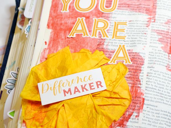 Lessons In Bible Journaling: What Is Mixed Media? {What's True About You Mixed Media Page}