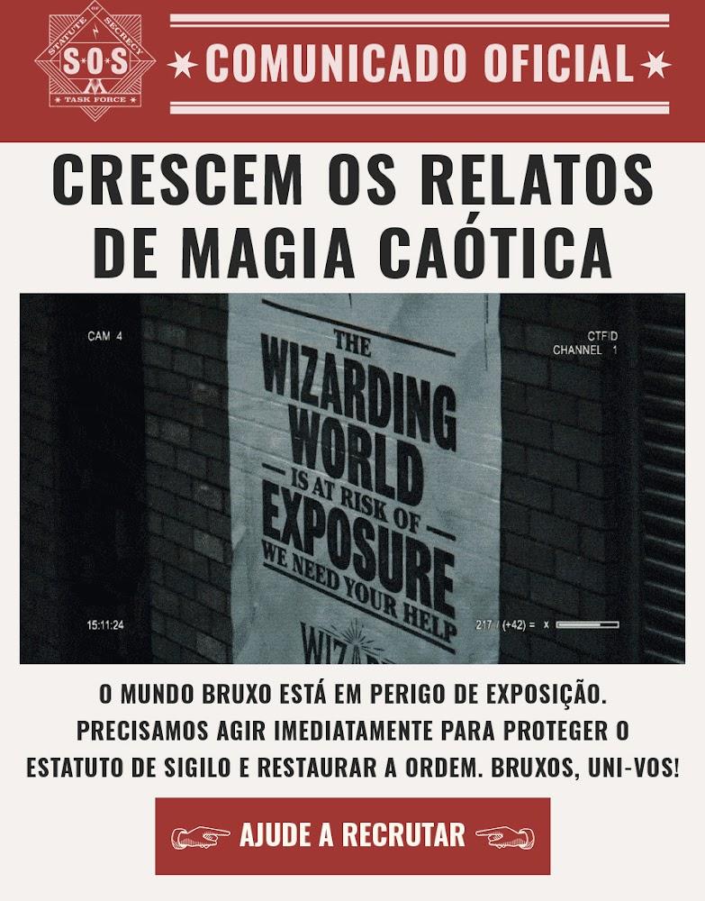 COMUNICADO OFICIAL: O Mundo Bruxo está em perigo de exposição! | Ordem da Fênix Brasileira