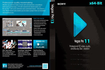 Sony Vegas Pro 11.0.683 x64-Bits PT-BR DVD Capa