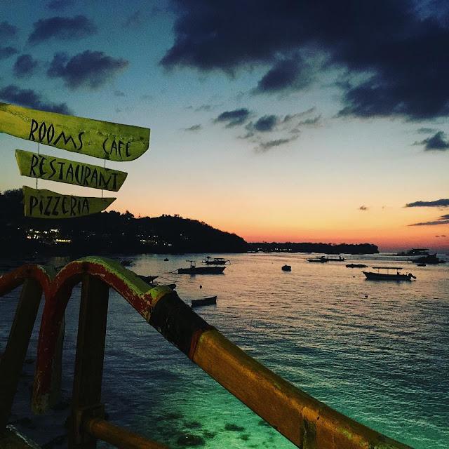 sunset di nusa lembongan