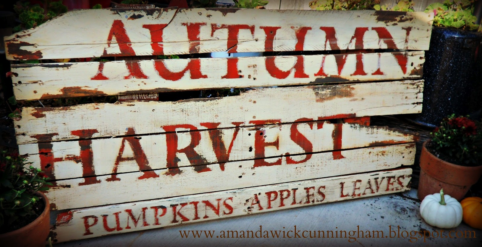 Kaleidoscope of Colors: From Pallet to Distressed Harvest Sign