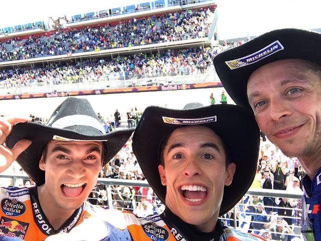 Marc Marquez Tak Tertandingi di Austin, Rossi #2, Dani #3 dan Vinales Terjatuh