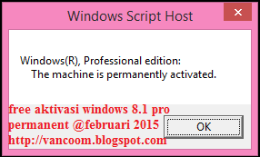 Cara Aktivasi Windows 8.1 pro permanent