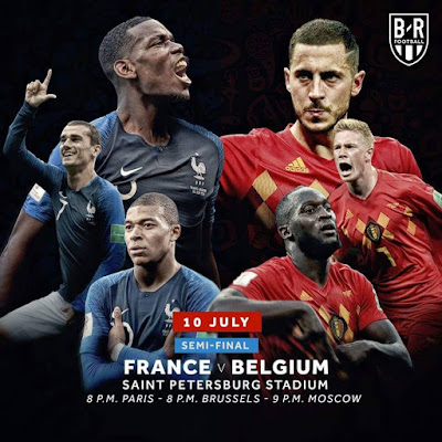 FRANCE VS BELGIUM LIVE STREAM WORLD CUP 10 JULY 2018