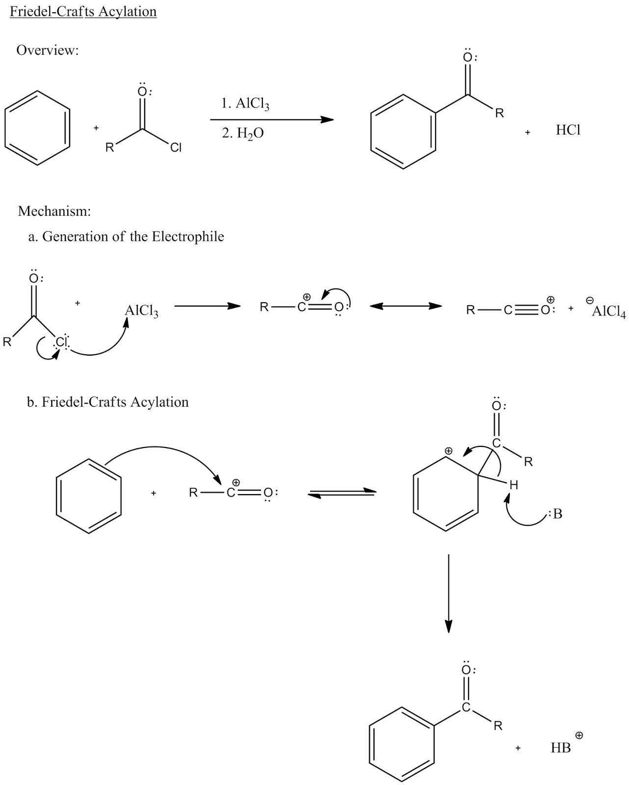 Friedel crafts acylation synthesis of 4 methoxyacetophenone