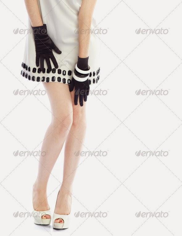Woman in stylish dress