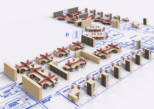 Image gallery office layout design for New office layout design