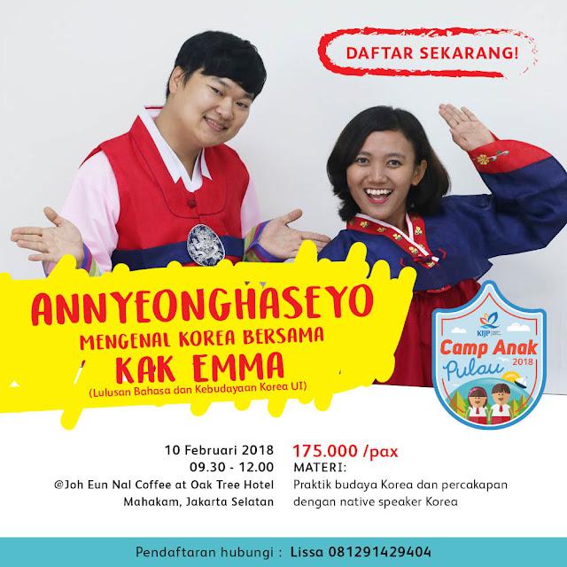 Kelas Korea untuk Bawa Anak Pulau ke Jakarta