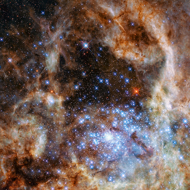 The central region of the Tarantula Nebula