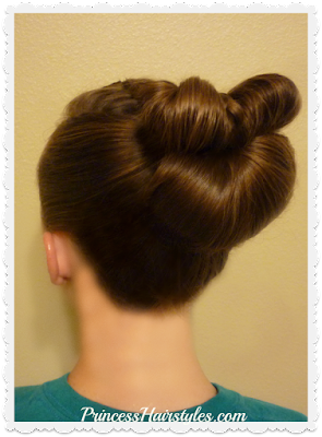 Quick and easy braided bow fan bun video tutorial