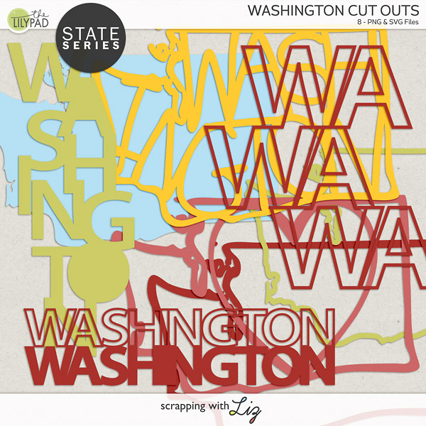 Washington Cut outs for creative projects.