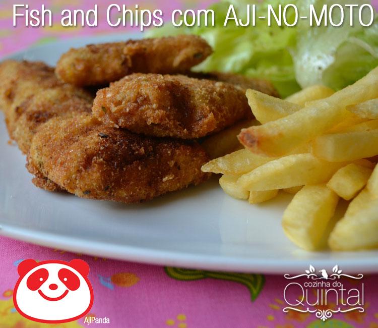 Fish and Chips com AJI-NO-MOTO na Cozinha do Quintal