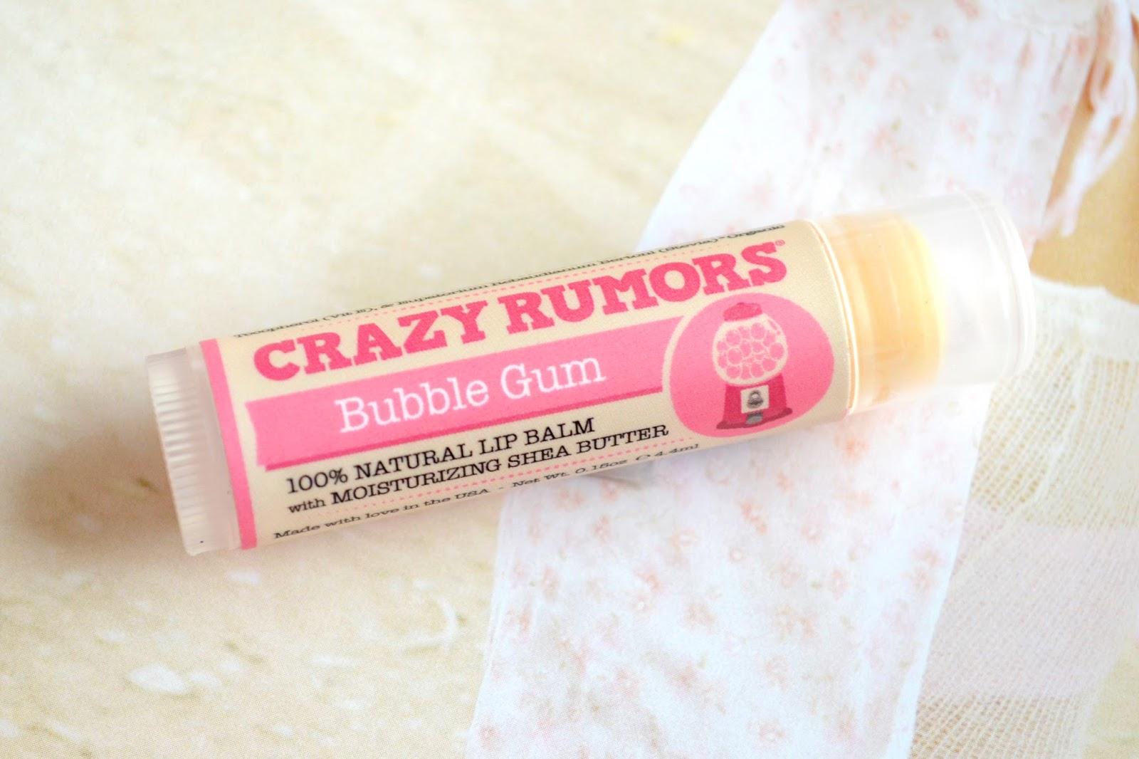 Crazy Rumors bubblegum lip balm review, crazy rumours lip balm UK