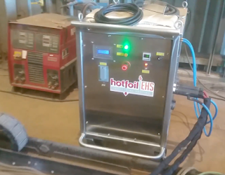 Induction heating power console