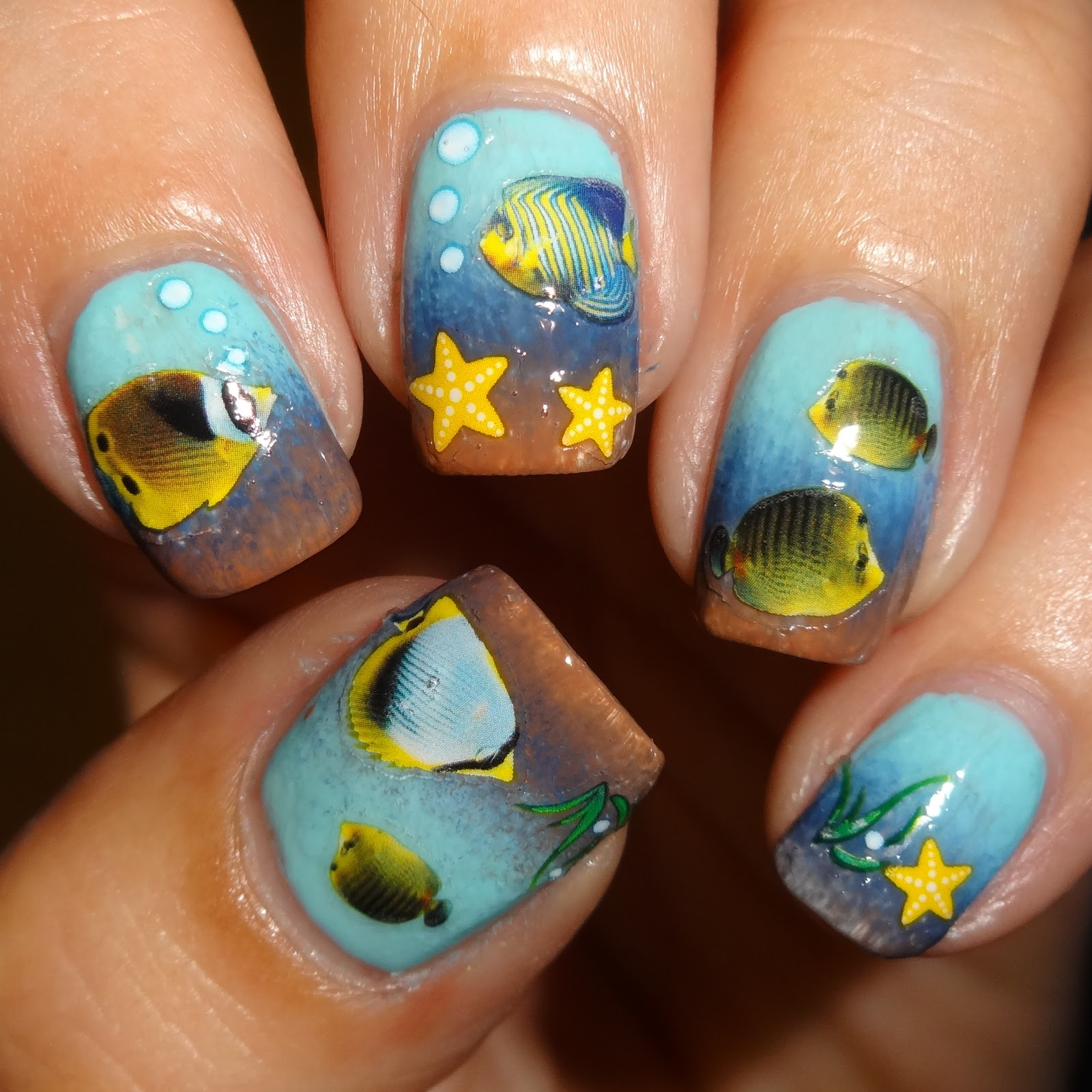 Wendy's Delights: Tropical Fish Nail Stickers from ...
