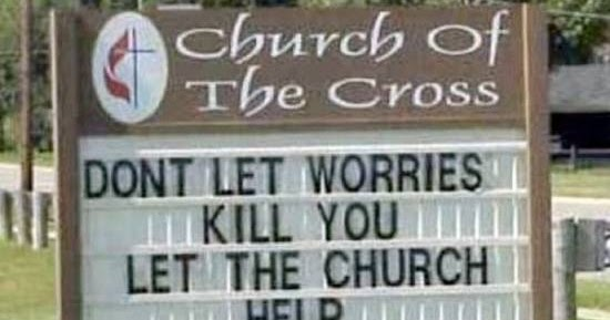 Silly Bunt: Church Quotes