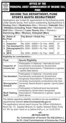 Income Tax Department Recruitment 2016 -2017