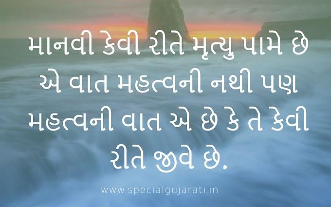 Gujarati Suvichar on Life | જિંદગી
