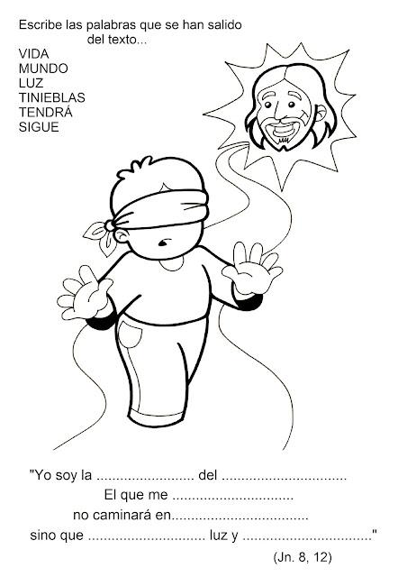 Hermosa La Luz Del Evangelio Para Colorear Imagen - Páginas Para ...