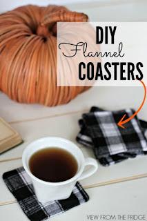 DIY Flannel Coasters