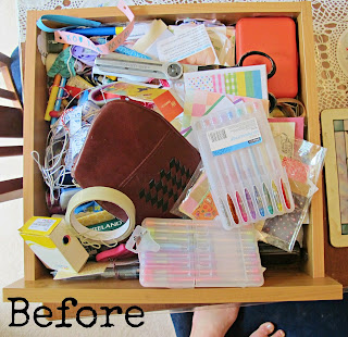 drawer reorganisation before messy