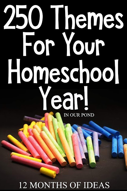 20 Theme Ideas for Bonus as part of the 250 Theme Unit Ideas for Your Entire Homeschool Year blog post // In Our Pond