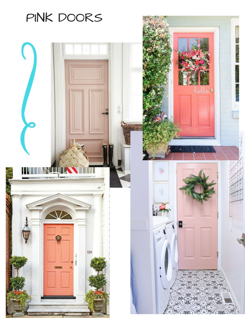 I adore the dark with the pale pink.  sc 1 st  Design Indulgence & PINK DOORS - design indulgence