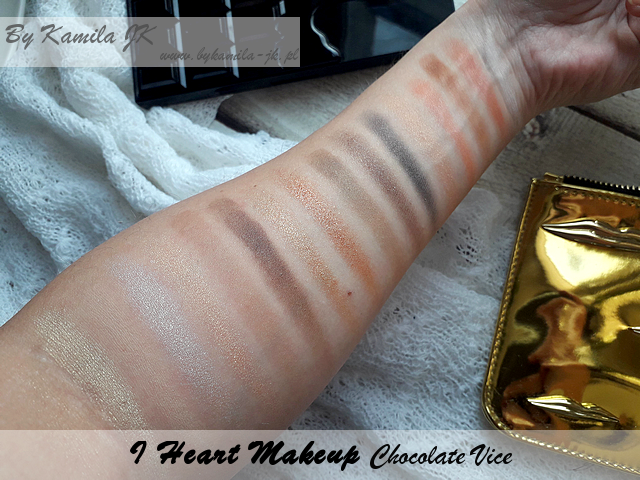 Makeup Revolution I Heart Makeup Chocolate Vice swatche