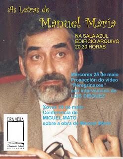MANUEL MARÍA. LETRAS GALEGAS 2016