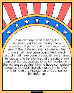 6th Amendment coloring page #Constitution #6thAmendment #Homeschooling