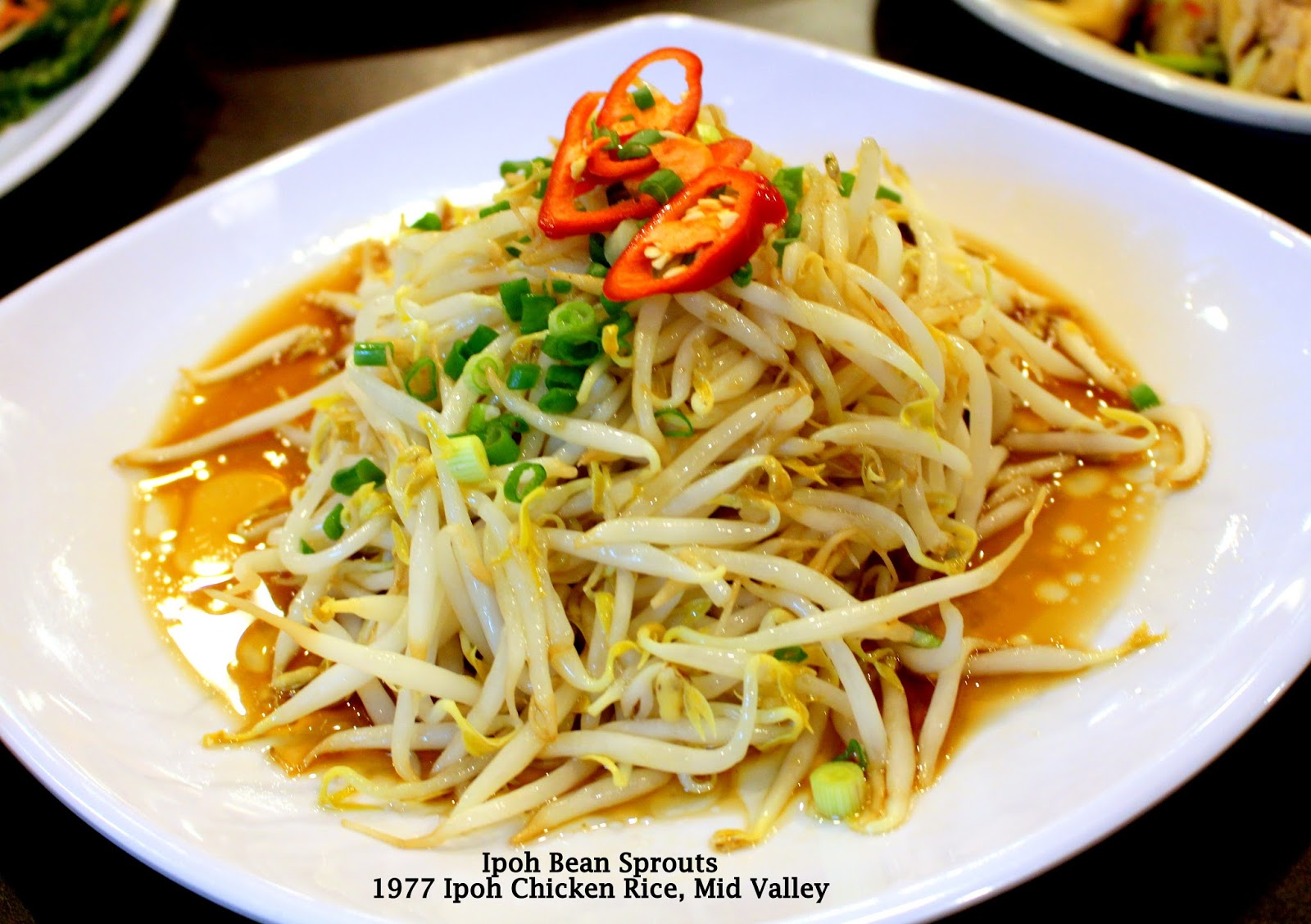 1977 Ipoh Chicken Rice Mid Valley Megamall Life Is An Interesting Parcel Makanan Pja 1607 And The Best Part That Bean Sprouts Sold At Shop Taken From Which Grows In Middle Of Huge