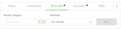 cara top up saldo mtix lewat tokopedia