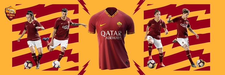 7c1b7357d18 The Nike AS Roma 19-20 home kit was launched this morning. Qatar Airways  continue as main sponsor on the Roma 2019-2020 home jersey, in a deal that  will run ...