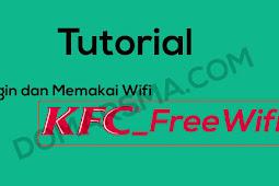 Cara Termudah Login dan Menggunakan Wifi KFC_FreeWifi