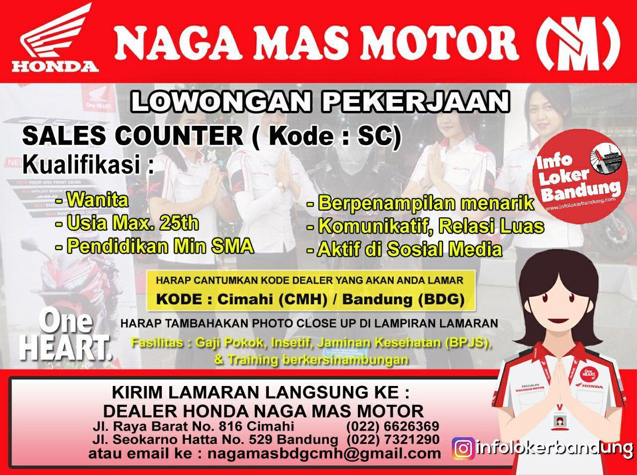 Lowongan Kerja Honda Naga Mas Motor Cimahi & Bandung Januari 2019