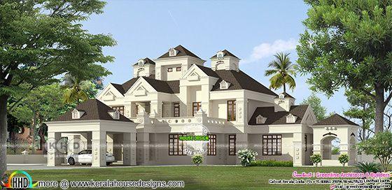 5 BHK 662 square meter home design