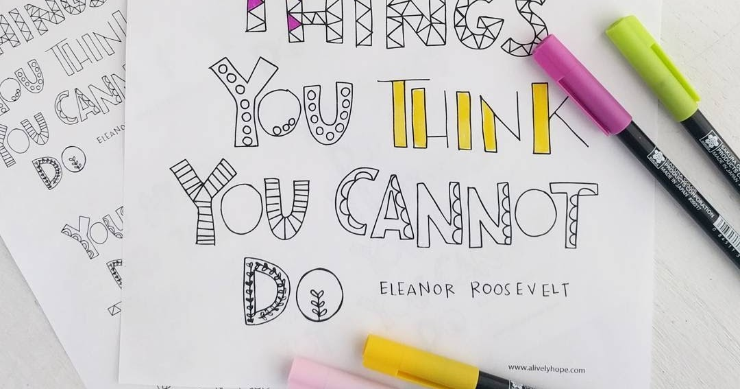 the thing you think you cannot do pdf