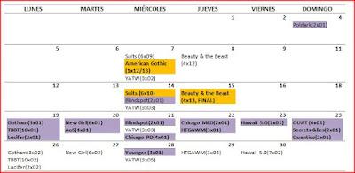 Calendario del mes